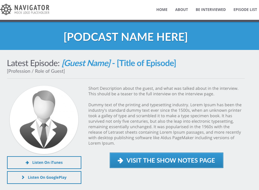 Podcasting Site