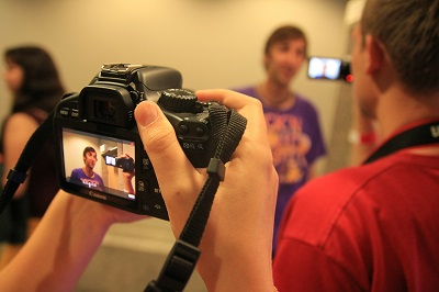Video tape and practice public speaking in the mirror