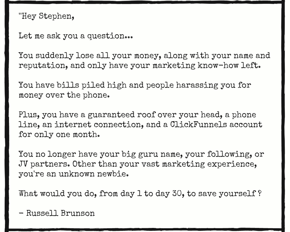 email from Russell Brunson