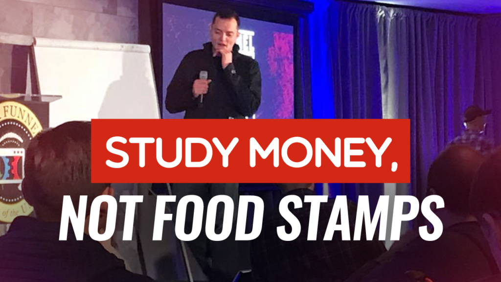 Study Money Not Food Stamps