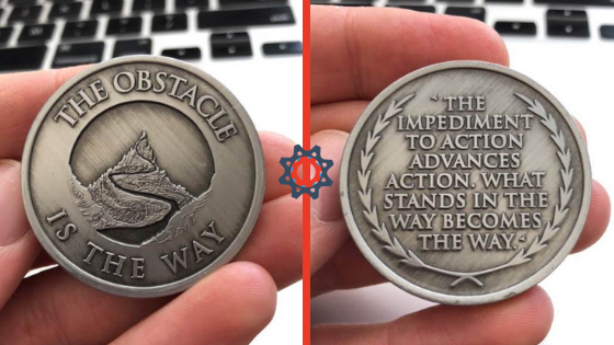 Overcoming obstacles coin