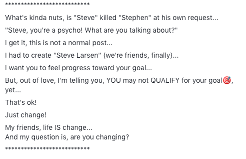 THE DAY THAT STEVE KILLED STEPHEN