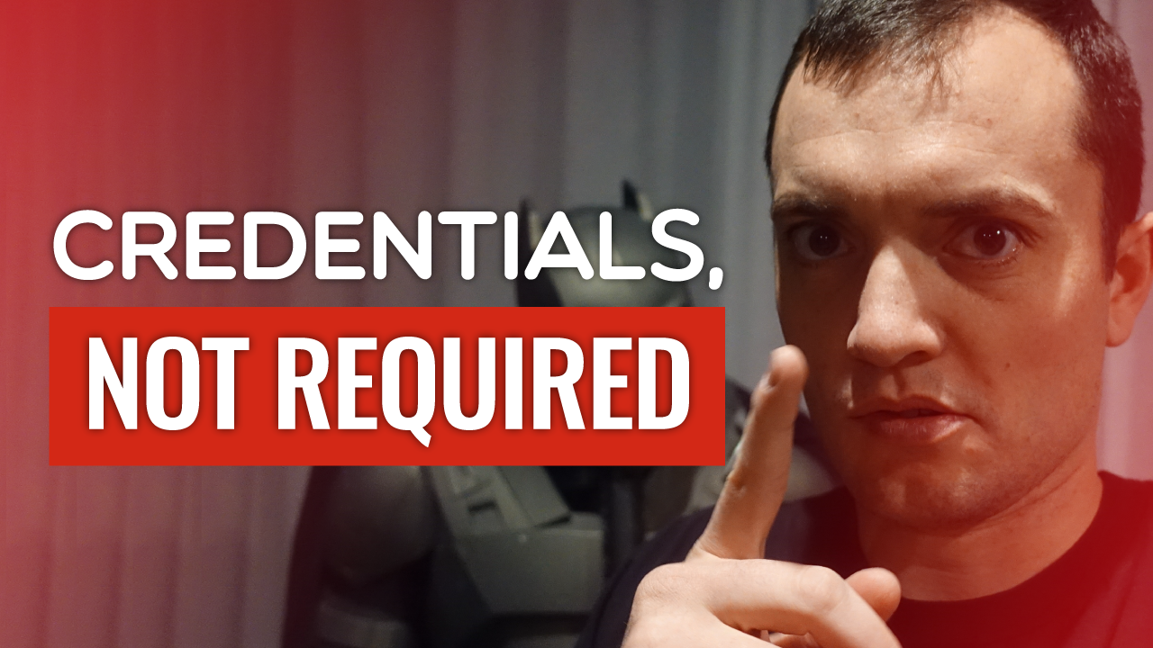 SFR 222 Credentials, Not Required