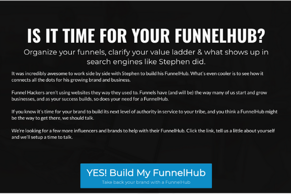 is it time for your funnelhub