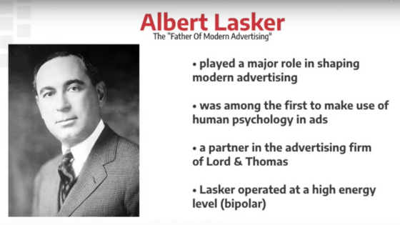 Albert Lasker sales message