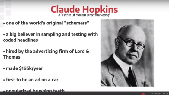 Claude Hopkins offer creation