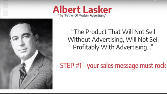 Sales message from Albert Lasker