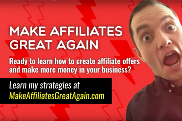 Make affiliates great again book writing advice