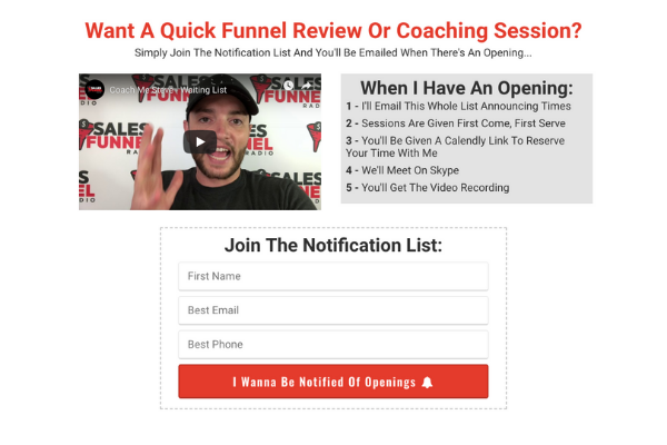 Quick funnel review