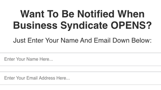 Business Syndicate wait list
