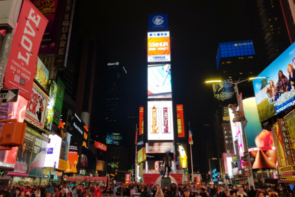 How to create ads in Times Square