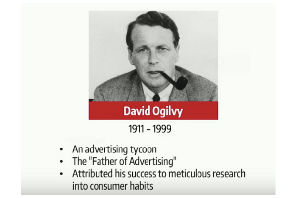 David Ogilvy the father of advertising
