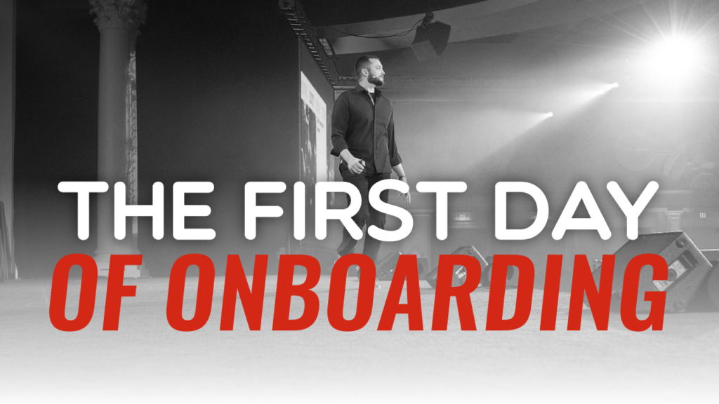 SFR 296 The First Day Of Onboarding